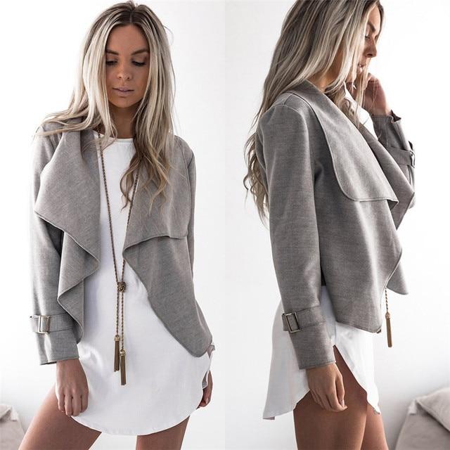 3b4a156e9b72 New Style Womens Coat Wool Long Sleeve Casual Tops Cardigan Waterfall Jackets  Outwear Fashion Hot Sales Coat Wolovey 15