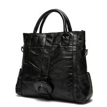 2016Fashion Genuine Leather Women Handbag Patchwork Natural Sheepskin Shoulder Bags Ladies Black Casual Messenger Bag sac Bolsa все цены