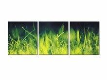 3 Piece Wall Art Canvas Prints Green Grasses Photo Printing Modern Oil Painting Home Decoration Frame QJFJ3-46