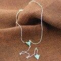 2016 envío libre del estilo de euramerican moda contrajo blanco/verde triángulo collar colgante collar de la Turquesa de piedra artificial