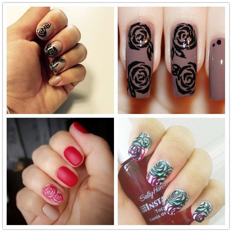 Baratos Rosa Mariposa Original Diseño de Uñas de Arte Polaco DIY Que ...