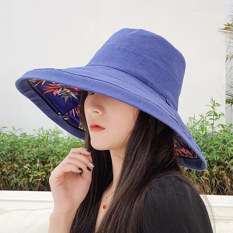 Kopfbedeckungen Für Damen 2019 Mode-design Blume Faltbare Krempe Sonnenhut Sommer Hüte Für Frauen Uv Schutz Großen Krempe Strand Sonne Hüte Im Freien Bekleidung Zubehör