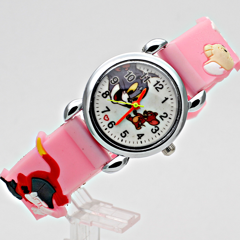 Mode Kinderen cartoon kat en muis Casual Kinderen Horloges Quartz - Kinderhorloges - Foto 4