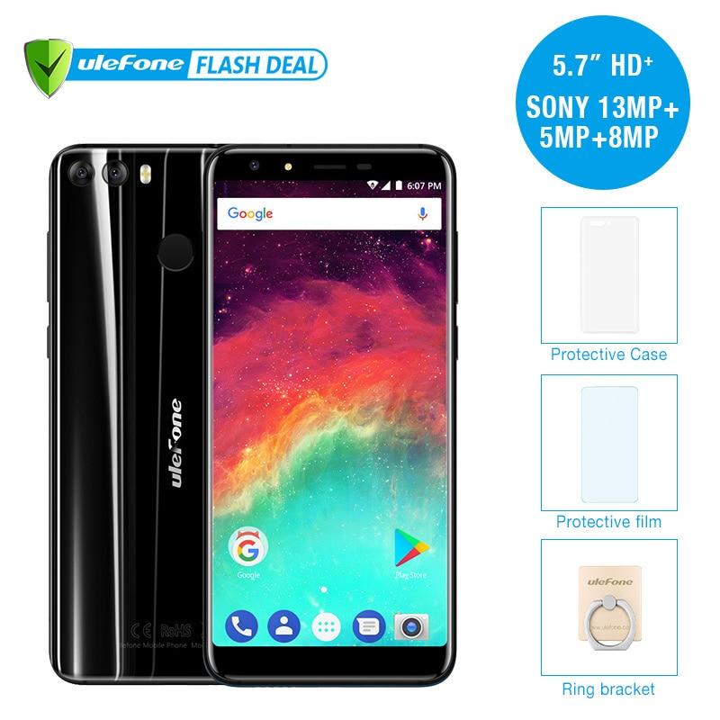 Ulefone MIX 2 5.7 HD + 18:9 écran MTK6737 Quad Core Android 7.0 D'empreintes Digitales 2 GB + 16 GB Mobile Téléphone 13MP Double Caméra téléphone portable
