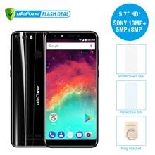 """Ulefone MIX 2 5.7 """"HD + 18:9 écran MTK6737 Quad Core Android 7.0 D'empreintes Digitales 2 GB + 16 GB Mobile Téléphone 13MP Double Caméra téléphone portable"""