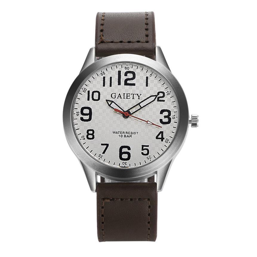 купить MenFashion Leather Strap watches Casual watch Men Business wristwatches Sports Military quartz watch Relogio Masculino 5- по цене 72.4 рублей