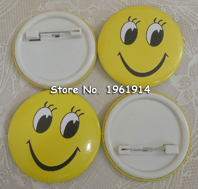 100% Quality 10 Pcs Smiling Face Badge 3cm Girl With Big Eyes And Chest Seal Childrens Badge Yellow Smiley Face Badge Goods Of Every Description Are Available Back To Search Resultshome & Garden