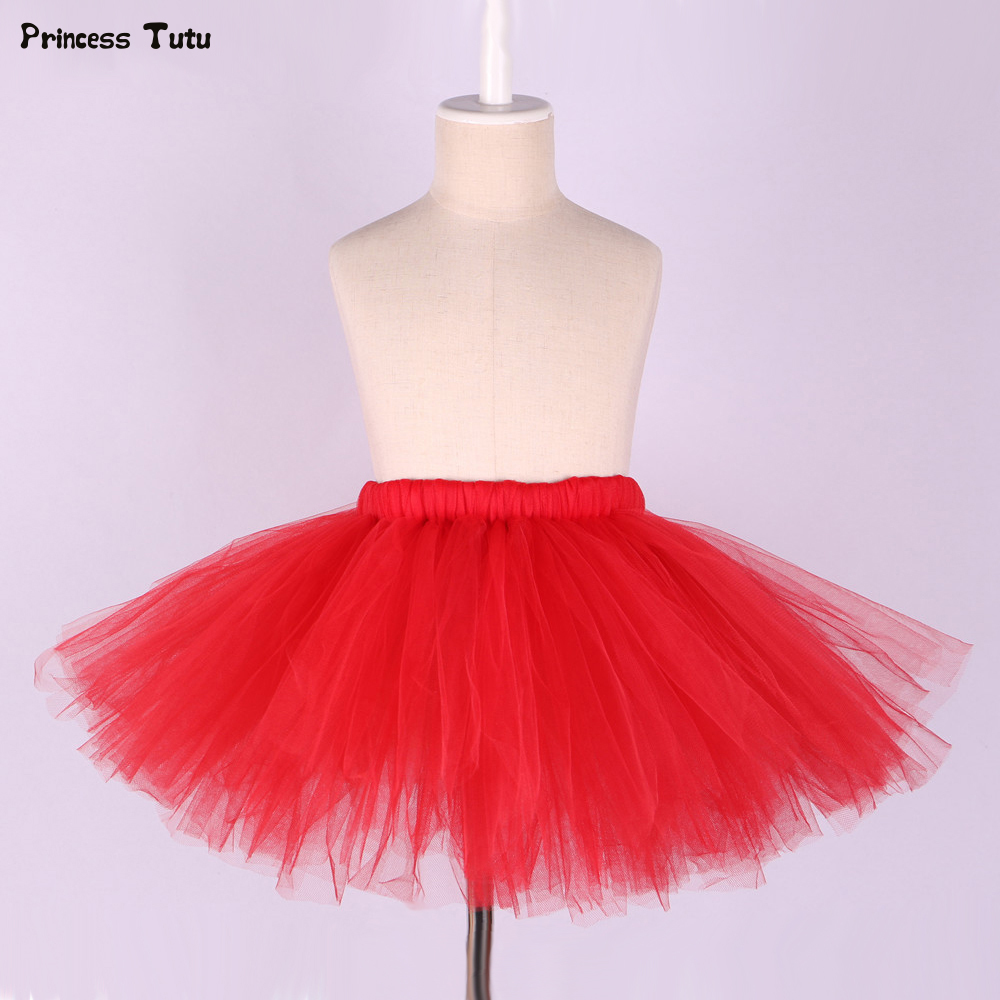 все цены на Baby Girls Tutu Skirt Fluffy Children Kids Pettiskirt Tulle Mini Skirt Girl Princess Ballet Tutu Girls Party Dance Skirts 1-8Y