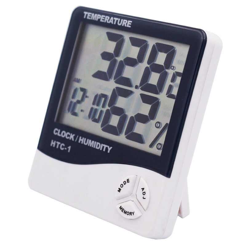 10pcs Indoor LCD Digital Humidity Temperature Tester Hygrometer Thermometer Alarm Clock Weather station 44 off
