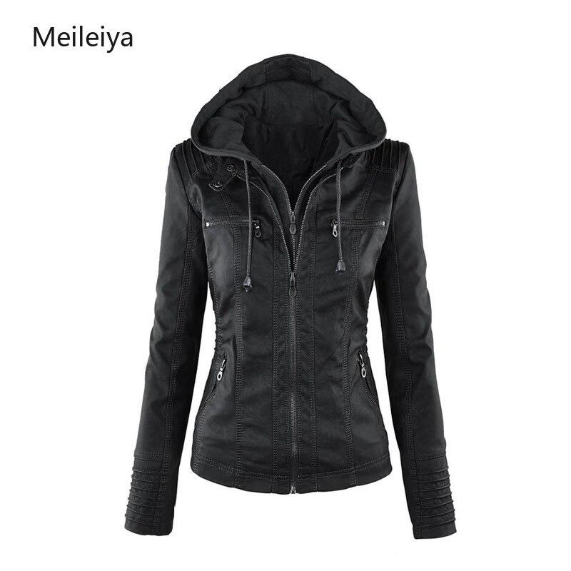 Long sleeved Women's Zipper Leather Jacket Large Size Leather Jackets and Coats Women Plus Size XS 7XL