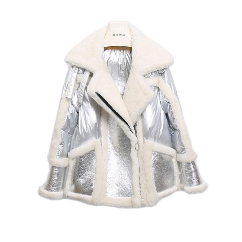 Duvet Importés Fourrure 2019 Agneau Cheveux Un Manteau Hiver Longs De Femmes Blanc Mouton Haining noir Femelle Nouvelle zww4xqS6