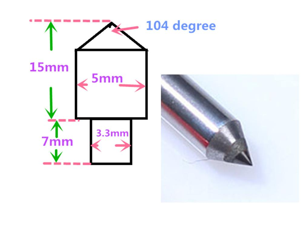 Talentool single point diamond dresser New Diamond Cutter CNC Diamond drag engraving tool bit 2pcs diamond needle stone marble loxa marble relief cnc engraving diamond tool stone engraving grinding tool conical head end milling cutter