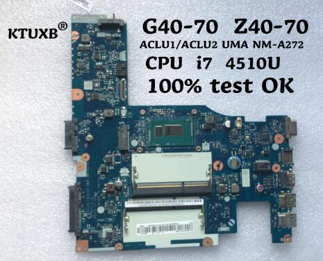 KTUXB Lenovo ACLU1 ACLU2 UMA NM A272 motherboard for Lenovo G40 70 Z40 70 notebook motherboard