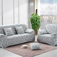 1 2 3 4 Seater Floral Polyester Stretch Sofa Slipcover Fashion Couch Cover Sofa Cover Home