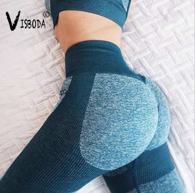 Women Tracksuit Cropped Tank Top High Waist Legging Pants 2 Pieces Set Workout Fashion Female Sexy Seamless Fitness Match Suit