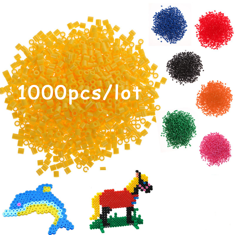 DOLLRYGA 1000pcs /lot 2.6mm Hama Bead Perler Jouet Enfant Kid Craft  Fun DIY Intelligence Educational Pegboard Bead For Children