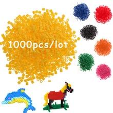 DOLLRYGA 1000pcs /lot 2.6mm Hama Bead Perler jouet enfant Kid Craft  Fun DIY Intelligence Educational Pegboard for Children