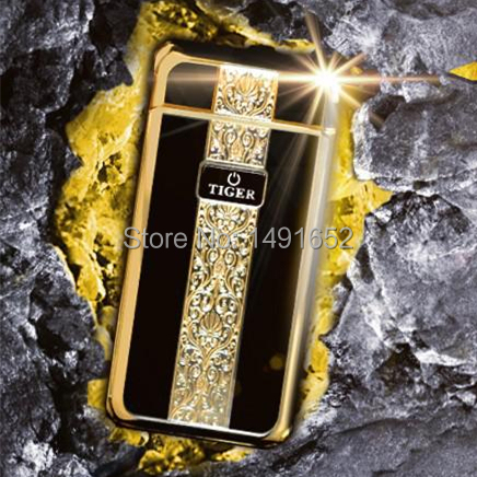 Originality Metal windproof electronic lighter USB Rechargeable 909 Electric Arc Luxury smoking cigarette lighter Cute Gift