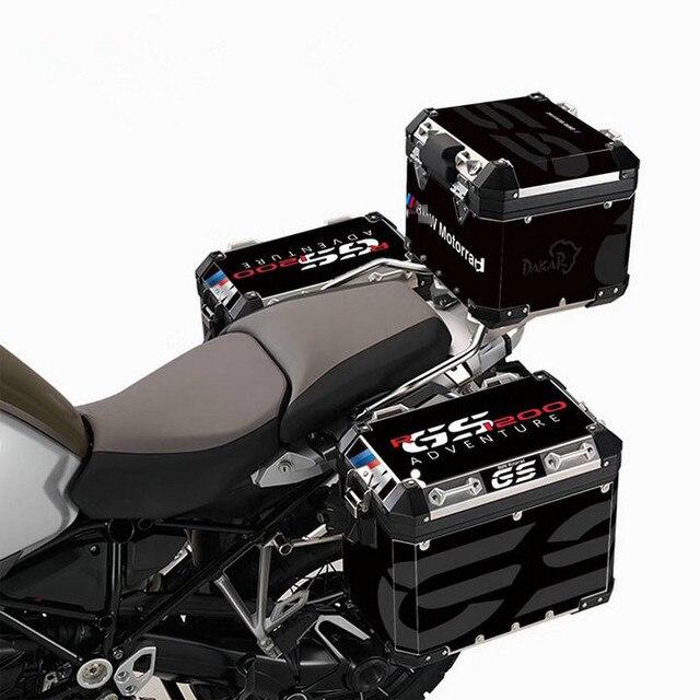 1 Juego de pegatinas de la caja trasera de la motocicleta de adventure racing es global R1200GS F800GS F700GS (para el marco de aleación de aluminio)