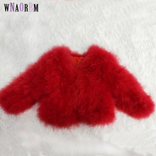 Зимняя куртка из натурального турецкого пера, пальто с мехом страуса, куртка, настоящая детская одежда, modis casaco infantil