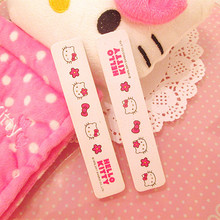 hello kitty nail files nail art Art Tips tool lovely Buffer Buffing Slim professional high quality make up Manicure tool sanding