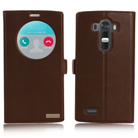 Window Smart Cover Case For LG G4 H818 H815 H810 Top Quality Genuine Leather Magnet Flip