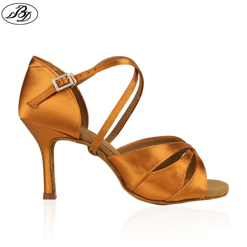 New Style Women Latin BD2363 Dance Shoes Sandal Satin Ladies Professional Latin Dancing Shoes High Heel