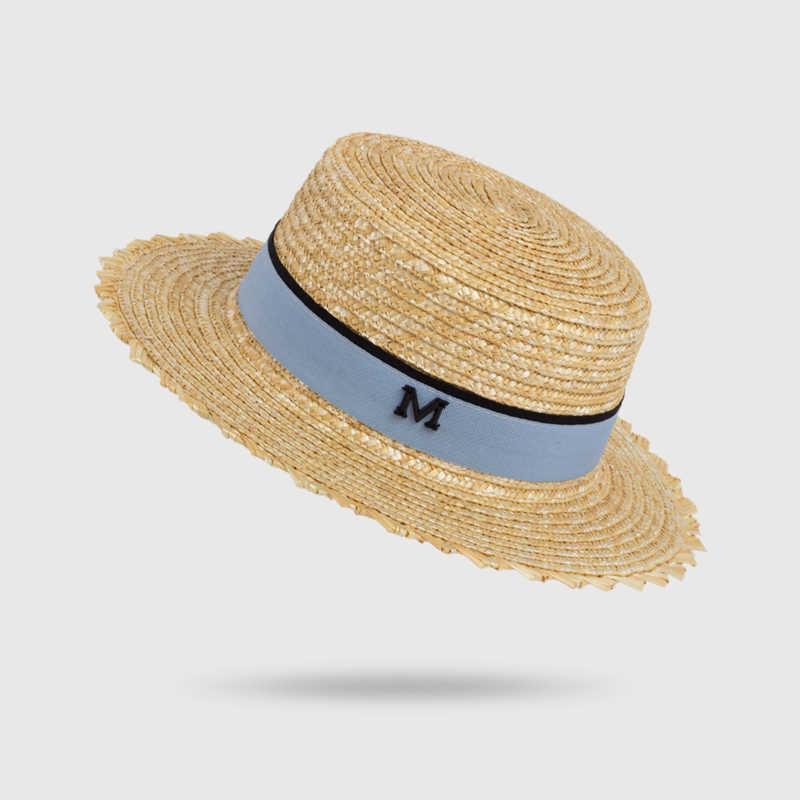 2c5ebfb8fd63e HSS Brand Women Summer Hats Sun Flat Straw Hat Fashion maids girl travel  beach vacation England