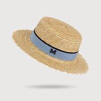 HSS Donne di Marca di Estate Cappelli di Sun Cappello di Paglia Piatto Moda  cameriere viaggio 6e6eddf760de