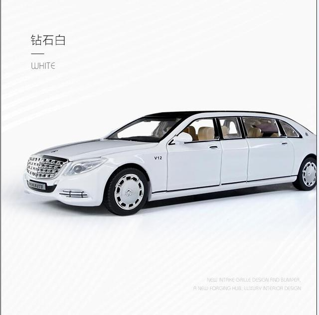 1:32 Toy Car Maybach S650 Extended edition Metal Toy Alloy Car Diecasts & Toy Vehicles Car Model light sound Toys For Children