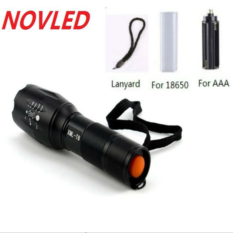 90% OFF 8000 Lumens Flashlight 5-Mode CREE XM-L T6 LED Flashlight Zoomable Focus Torch by 1*18650 Battery or 3*AAA Battery cree xm l t6 bicycle light 6000lumens bike light 7modes torch zoomable led flashlight 18650 battery charger bicycle clip