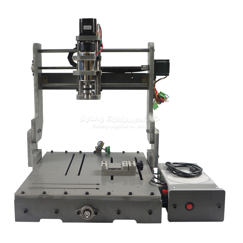 DIY 3040 3 axis mini hobby cnc router DC spindle 300W,do anything as you design cheap price mini cnc router 2520t 3 axis 200w spindle for new user or school tranining