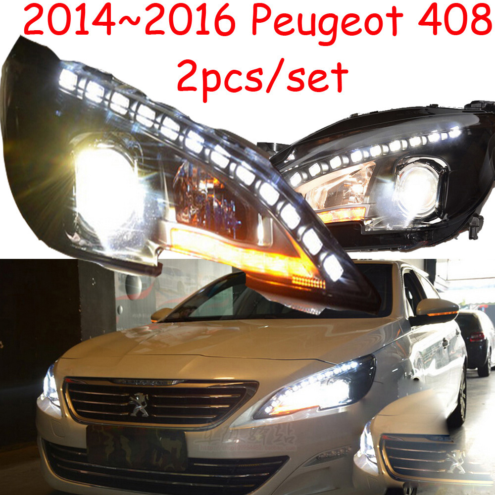 Stock!308S,HID,2014~2016,Car Styling for Peugeo 408 Headlight,insight,206 207 308 3008 4008 508 Raid RCZ,Partner,408 head lamp