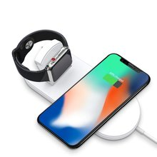 Youbina 2in1 Qi Wireless charger Fast Fharging Dock Station For Apple Watch series iPhone 8 x xr xs max