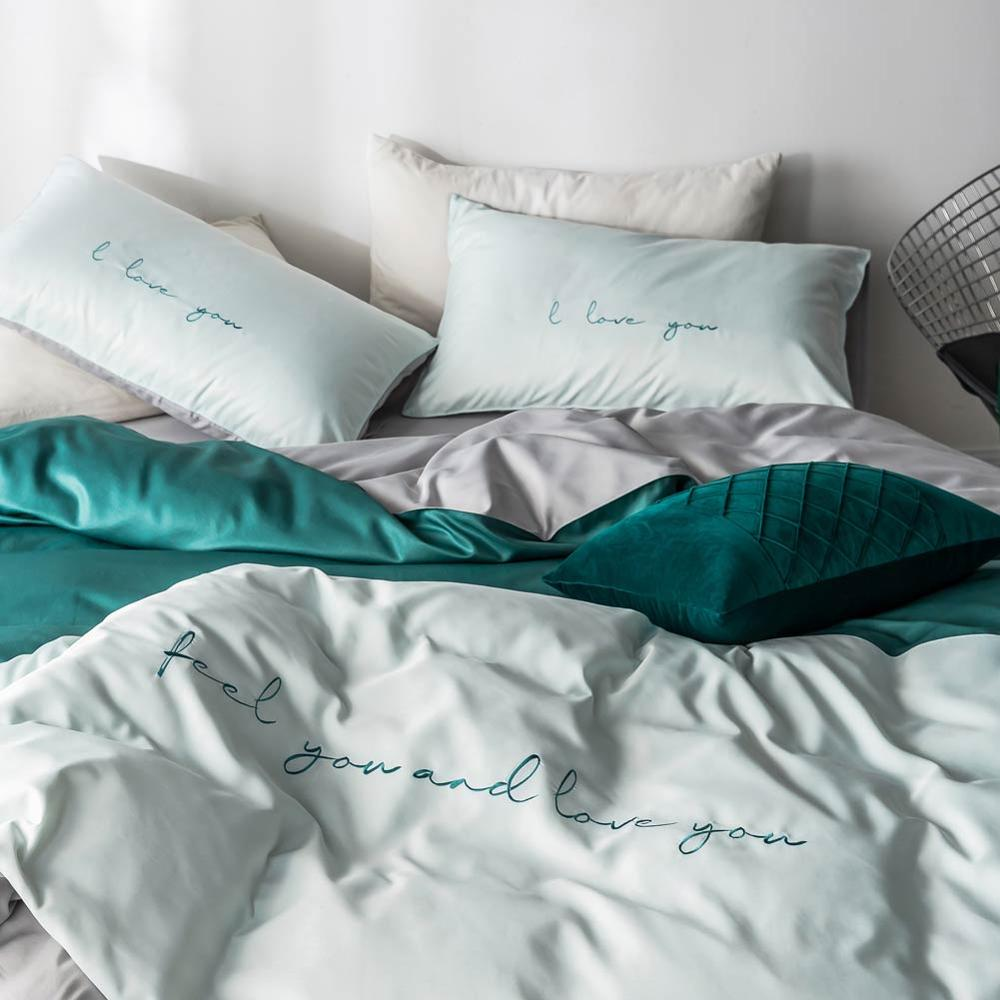 Image 4 - Svetanya silky Bedding Set embroidery Linens king queen double size-in Bedding Sets from Home & Garden