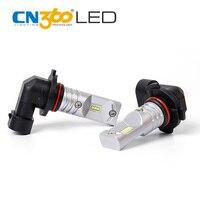 CN360 2PCS H10 Fog Lamp Auto LED Light Bulb CSP 760Lm 30W 12V Super Bright 6000K White All Aluminum With 2 Years Warranty