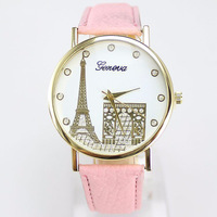 Women Watches Leather Band Effiel Tower Design Casual Fashion Women Quartz Watches relogio feminino Gift for Students BH005