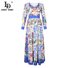 Floral Print Long With Scarf