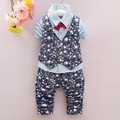 Baby Boy Clothes Sets Star Gentleman Suit Infant Toddler Boys Shirt+Vest+Pants 3Pcs/Sets Children Clothing Set Outfits 1-4 Age