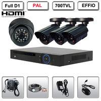 4 CH HDMI FULL D1 DVR Surveillance CCTV System 4 700TVL Security IR Video Camera