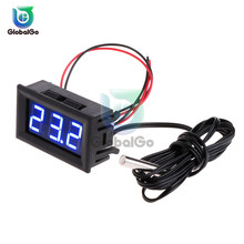 LED Thermometer -50-110℃ Temperature Meter Detector Temperature Sensor Probe DC 5-12V 3 Bit Digital Monitor Tester Panel Gauge