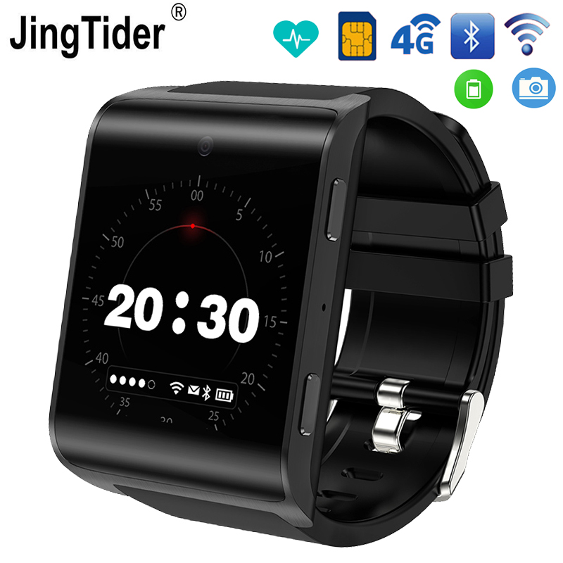 JT2018 4g Montre Smart Watch Android 6.0 MTK6737 Quad Core 1 gb/16 gb Bluetooth Smartwatch 900 mah 1.54 Fréquence cardiaque GPS Wifi Caméra Sim