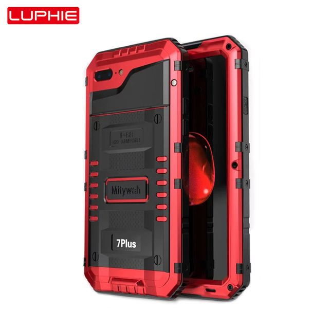 premium selection bfda2 0c9b0 US $24.68 |Luphie Waterproof Case For Iphone X Shockproof Dirtproof IP68  Phone Cases For Iphone 8 Case 6 6S 7 Plus Cover X Tempered Glass -in Fitted  ...