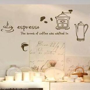 Spedizione gratuita caffè espresso maker parete cucina sticker casa ...