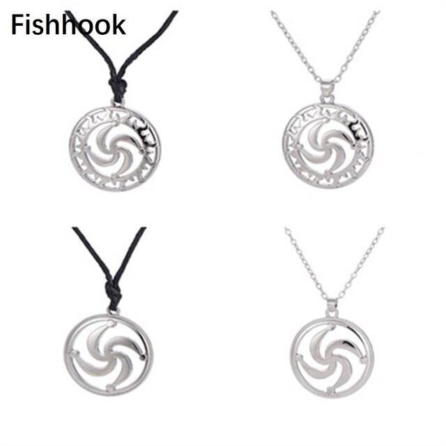 Fishhook Rod Symbol Pendant Pagan Jewelry Slavic Amulet Swastika