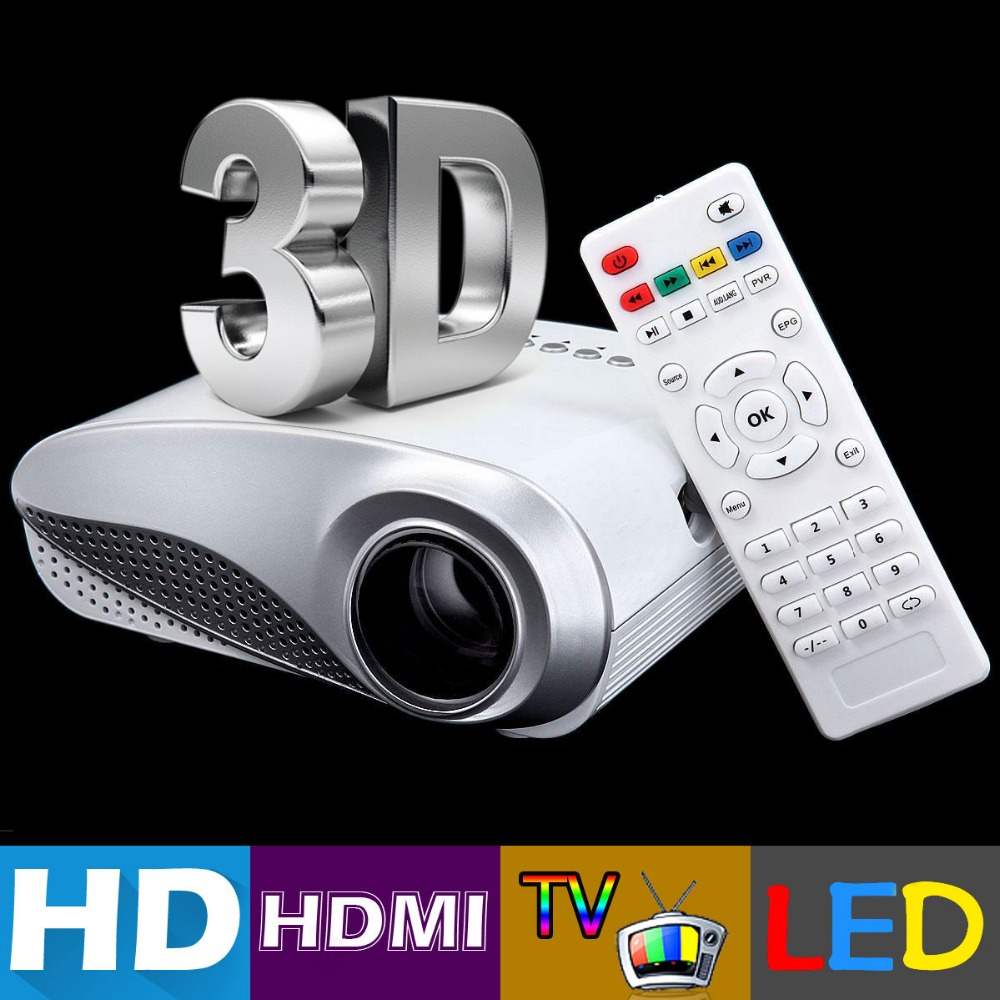 1080p Full Hd Led Lcd Multimedia Vga Hdmi Tv Home Theater: H60 Portable 3D LED Projector LCD Multimedia Home Cinema