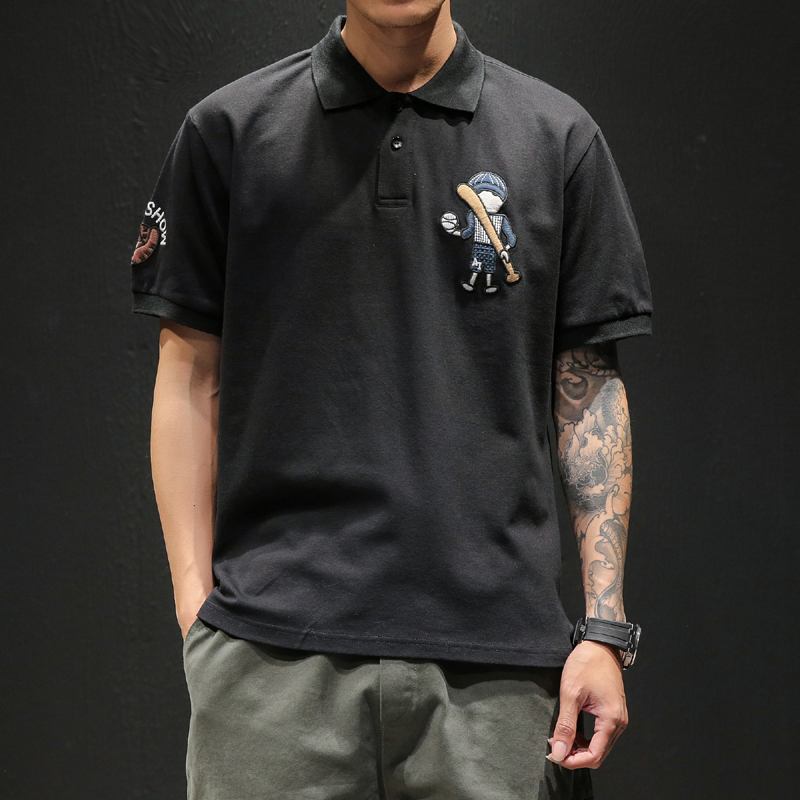 Men   Polo   Shirts 2019 New Arrivals US Baseball Boy Embroidery   Polos   Fashion Short Sleeve Breathable Summer Clothes M-5XL D888