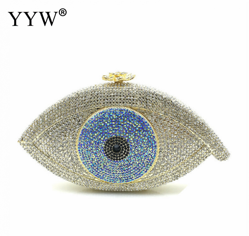 Synthetic Leather Clutch BagJewelry For Men with chain & with rhinestone eyes more colors for choiceSynthetic Leather Clutch BagJewelry For Men with chain & with rhinestone eyes more colors for choice