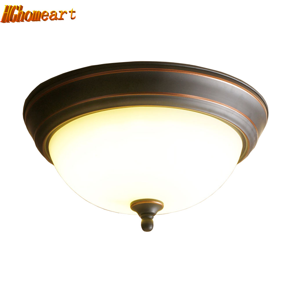 American Retro LED Ceiling Lamp Round Bedroom Lamp Study Hall Corridor Bathroom Balcony Aisle Lamps american country bedroom corridor balcony lamp led 12w 18w 24w round led ceiling light indoor lighting lamps ac 110v 220v