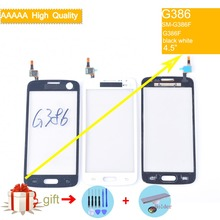 G386 For Samsung Galaxy Core LTE Avant SM-G386F G386F G386 Touch Screen Panel Sensor Digitizer Front Glass Lens Touchscreen display assembly with touchscreen and front panel for samsung for galaxy note 3 sm n9005 lte 4g black gh97 15107a